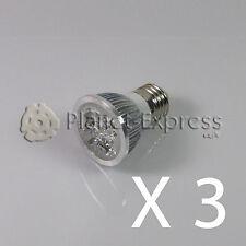 3 x Bombilla 4W LED E27 Blanco Frio 220V 350 lumen Bajo Consumo! equi. 40W puro