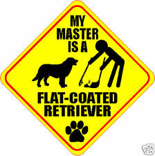 "My Master Is Flat-Coated Retriever 4"" Dog Poop Sticker"