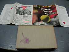 ELLERY QUEEN  THE  CHINESE  ORANGE MYSTERY -QUEEN'S EIGHTH  CASE  1945 HC/DJ