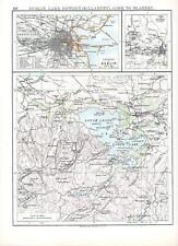 1897 VICTORIAN MAP ~ IRELAND ~ DUBLIN CORK to BLARNEY LAKE DISTRICT (KILLARNEY)