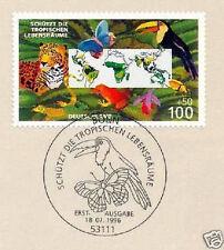 BRD 1996: Umweltschutz Nr. 1867 mit dem Bonner Ersttags-Sonderstempel! 1A 1806