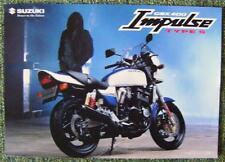 SUZUKI GSX 400 IMPULSE TYPE S MOTORCYCLE Sales Sheet 1999 (testo in giapponese)