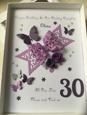Handmade Personalised Boxed Birthday Card Wife Daughter 18,21,30,40,50 Any Age