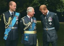 Postcard of Prince Charles, The Prince of Wales, Prince William & Prince Harry