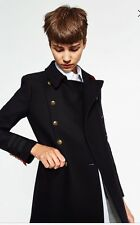 Zara Short Double-breasted Military/Navy Jacket. Fall Collection 2016. Size L.