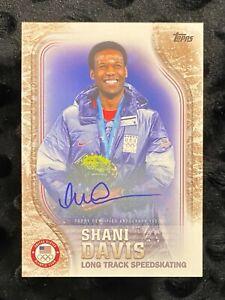 Shani Davis 2018 Topps Olympics United States Team Autograph #1/25 USA-39