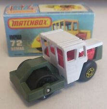 Matchbox superfast 72 Road Roller Custom/Crafted box