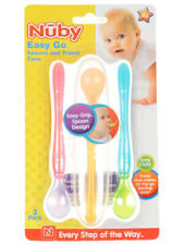 Nuby Easy Go 3-Pack Spoons with Travel Case