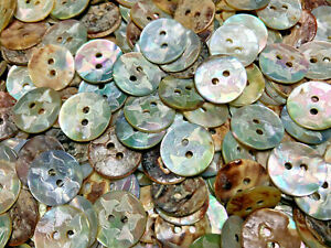 no.00750 *Available in Quantity* White Rainbow Mother-of-Pearl 2 Hole button
