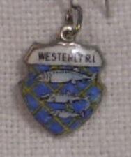 Vintage REU Sterling/Enamel Westerly, Rhode Island City Seal Bracelet Charm New