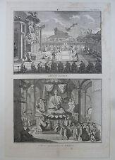 BERNARD PICART GRAVURE 1726 DIVINITE XEKIA JAPON ORIGINAL ENGRAVING 18è