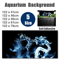 Water Dragon PVC HD Aquarium Background Poster Fish Tank Decoration Landscape G