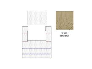 MERCEDES W123 C123 280CE INTERIOR HEADLINER WITH SUNROOF FIT CREAM COLOR