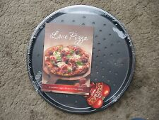 LEGGO'S 32CM PIZZA PAN PERFORATED NON STICK WITH LOVE PIZZA COOKBOOK