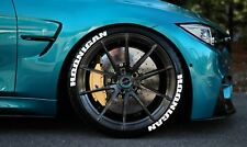 "Tire Lettering HOONIGAN Stickers Wheel 16""-24""Decal SET 1.25"" 4 tires Letters"