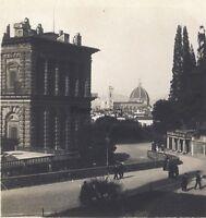 Florence Palais Pitti Italia Stereo Vintage Analogica Ca 1920