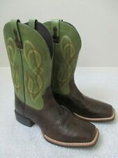 ARIAT 10012760 BROWN/GREEN COWBOY WESTERN LEATHER BOOTS SIZE 10.5 D - NEW