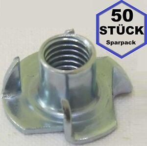 50 x Einschlagmutter M8 x 11 Gewinde Einschlagmuttern 8x11 verzinkt DIN 6930 NEU