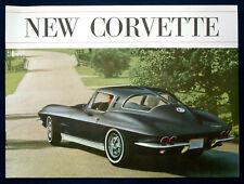 Prospekt brochure 1963 Chevrolet Chevy Corvette Stingray (USA) * schwarzes Cover