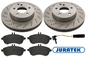 For Mercedes - C-Class C220 CDI W204 Front Drilled Brake Discs and Pads + Sensor