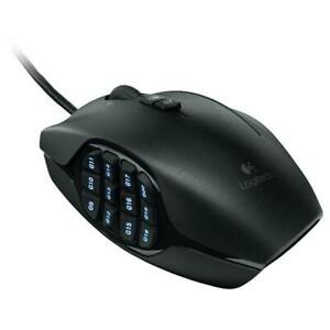 Logitech G600 MMO Black Gaming Mouse 20 Customizable Buttons Wired USB mouse