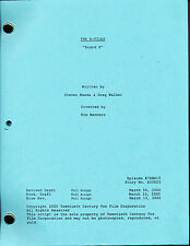 THE X-FILES BRAND X SHOOTING SCRIPT REPRINT David Duchovny Gillian Anderson