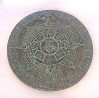 "Vintage Aztec Sun Stone Calendar Mayan Mexico 9"""