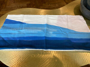"""West Elm Painted Canyon Throw Pillow Cover Blue Bird 14""""X26"""" SAMPLE"""