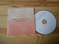 CD Indie How To Dress Well - And It Was U (1 Song) Promo DOMINO