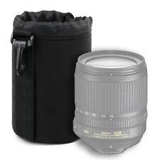 Medium Lens Pouch for Nikon AF-S DX Nikkor 18-105mm f/3.5-5.6G ED VR - Black