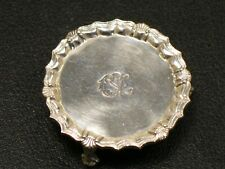 Obadiah Fisher Sterling Round Three-Footed Salver Tray Artist Dollhouse Miniatur