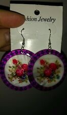 Unique flower earrings made of natural shell stunning!