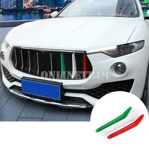 ABS Front Grill Grille Insert Trim Cover 3pcs For Maserati Levante 2016-2019