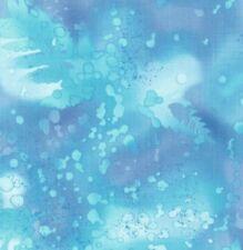 Benartex Fossil Fern Watercolor Style Blender Fabric Antiqua Blue 528B-1U BTY