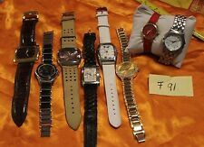 Lot Of 8 Women's Fashion Watches-J.RIVERS, STYLE 7 CO, C. RAMOND, 9WEST AND MORE