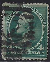 US Stamps - Scott # 211 - 4c Blue Green Jackson                          (C-217)