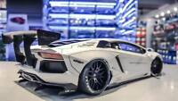 Lamborghini Aventador Liberty Walk LB-Works White AUTOart 1:18 Scale  79105