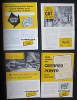 Vintage 1950's Cat Engine Ads & Magazine Inserts & 1946 Cat Brochure (8 items)