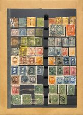 [OP3839] Mexico lot of stamps on 12 pages