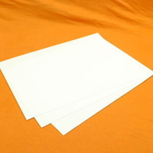 "0.25mm / 10th / 0.010"" White HIPS Plasticard / Styrene - A5 A4 A3"