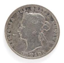 1874 H Canada Silver 25 Cent Victoria Km5 - VG #01281733g