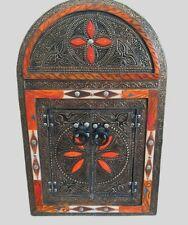 Wooden Wall Mirror Moroccan Handmade Doors Camel Bone Natural Mediterranean Deco