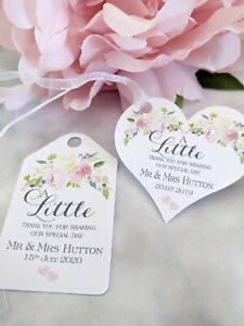 Personalised Wedding Favour Tag Thank You for Sharing our Special Day - OF02