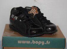 BOPY -  Zeflow  - Chaussures bébé Fille -  Cuir noir T 21 neuf