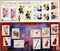 Japan 2018 Musikinstrumente Harfe Trompete Geige Flöte Kleinbogen Postfrisch MNH