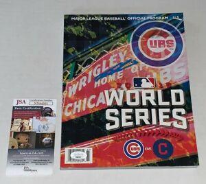 Kyle Schwarber Chicago Cubs signed Official 2016 World Series Program JSA