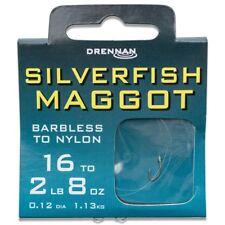 Drennan Silverfish Maggot Barbless Hooks to Nylon 16