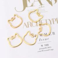 5Pcs Cat Head DIY UV Frame Pendants Open Bezel Setting UV Resin Jewelry Making