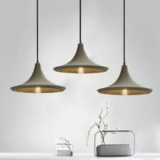 Shabby Chic Concrete Cement Cone Shade 1 Lamp Grey Ceiling Pendant Light Fixture