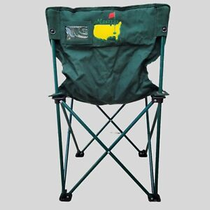 Masters Tournament Folding Chair And Carry Bag Green Pre-Owned